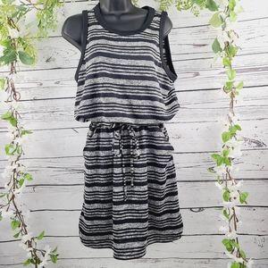 Banana Republic Striped Drawstring Dress